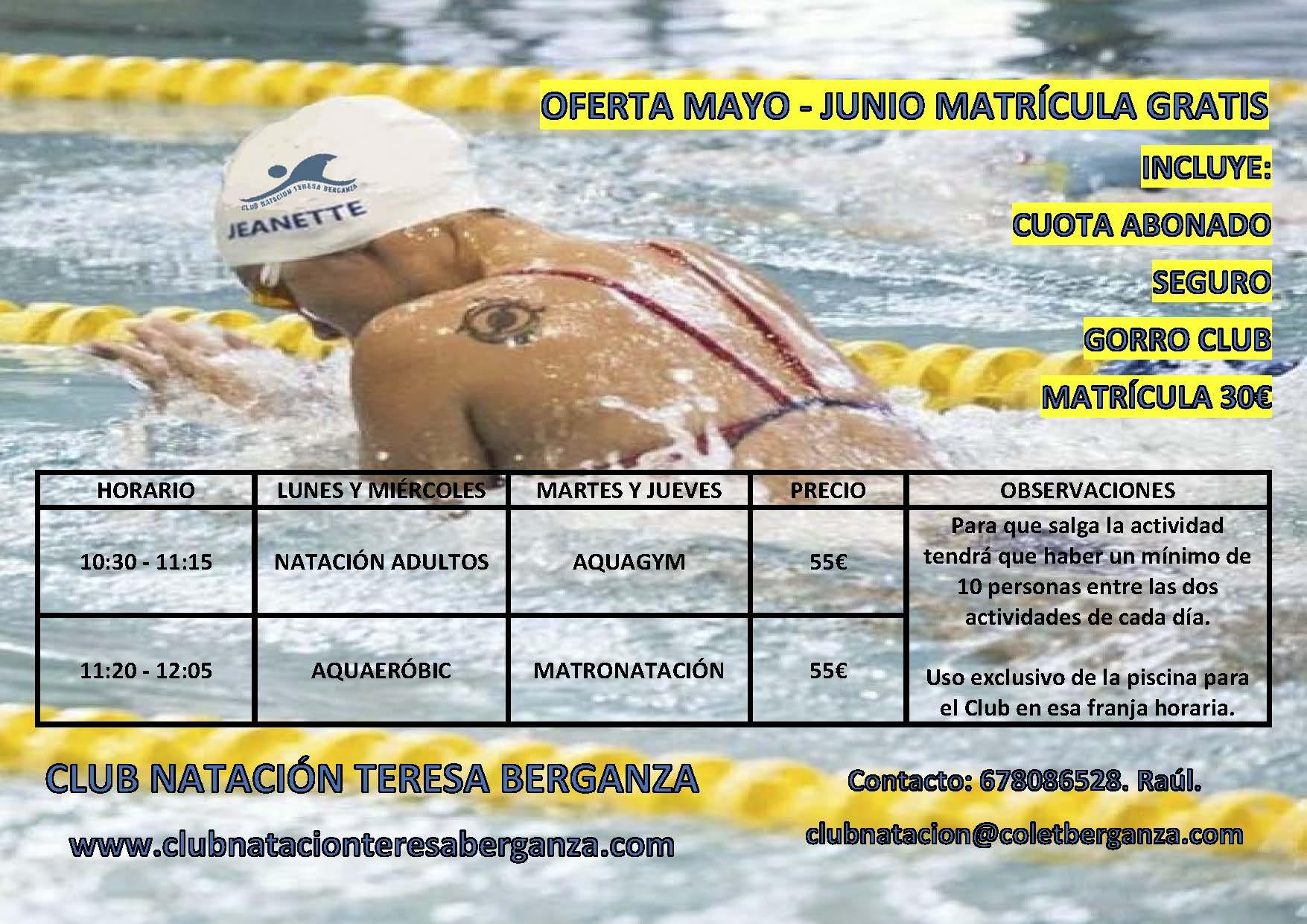 OFERTA MAYO - JUNIO MAÑANAS
